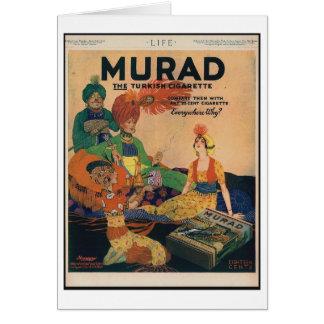 1918 anúncio turco do cigarro de Murad, cartão