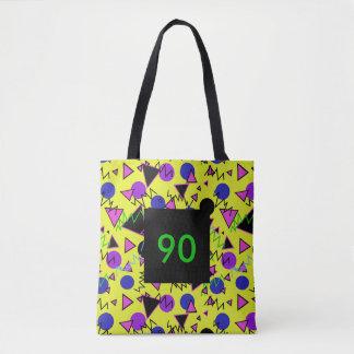 1990 geométricos corajosos bolsas tote