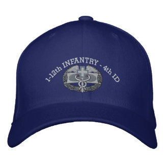 1-12o Infantaria CMB & chapéu da fita da campanha Bonés