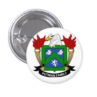 1 1/4 de botão de brasão de Putman Bóton Redondo 2.54cm