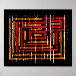 1: : Arte abstracta colorida Poster