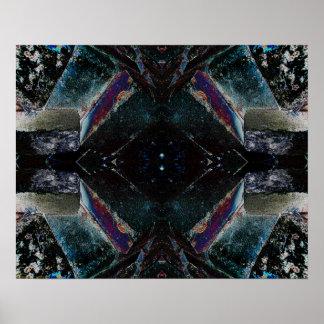 """""""1"""" celestial arte abstrata psicadélico da meditaç poster"""