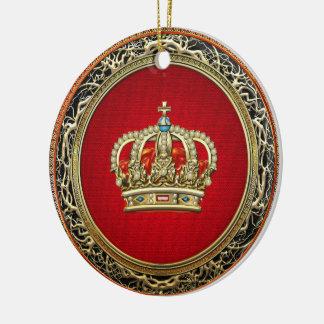 [200] Príncipe-Princesa Rei-Rainha Coroa Ornamento De Cerâmica