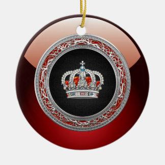 [200] Príncipe-Princesa Rei-Rainha Coroa [prata] Ornamento De Cerâmica