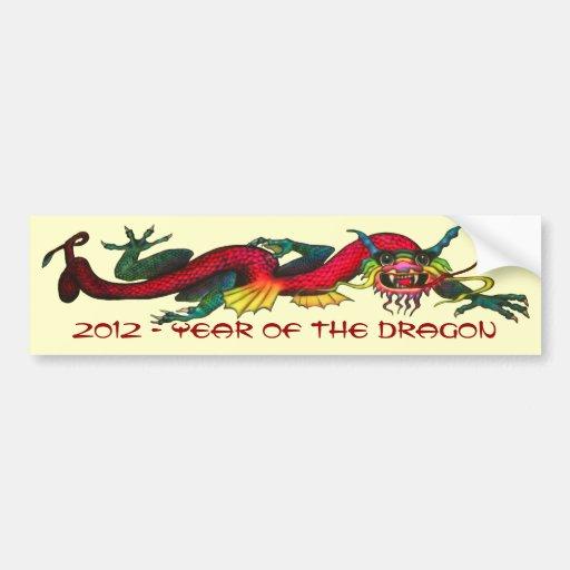 2012 anos do dragão adesivos