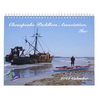 2015 associação dos Paddlers do Chesapeake, Calendário
