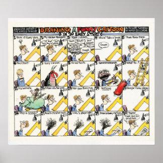 20 etapas fáceis a um poster engraçado do desenho