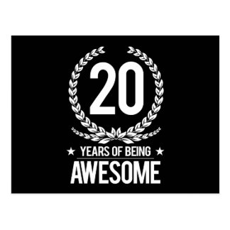 20o Aniversário (20 anos de ser impressionantes) Cartão Postal