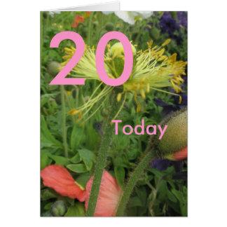 20o Aniversário Cartão Comemorativo