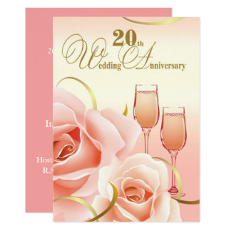 20o Convites da festa de aniversário do casamento