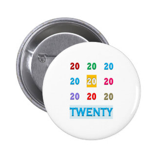 20o XX VIGÉSIMOS PRESENTES TODOS do aniversário do Botons