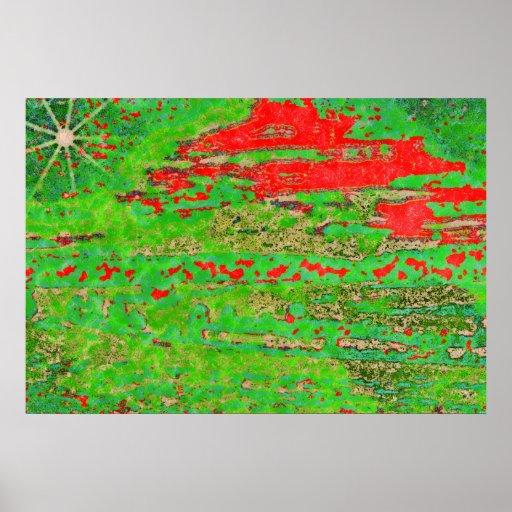 222 Landscape-mod-pastel2b-copy Posters