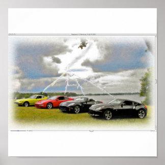 240 a 370 carros de Z Poster