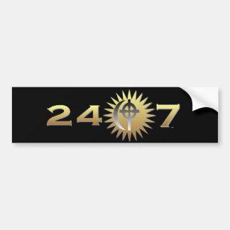 24/7 de autocolante no vidro traseiro do logotipo  adesivo para carro