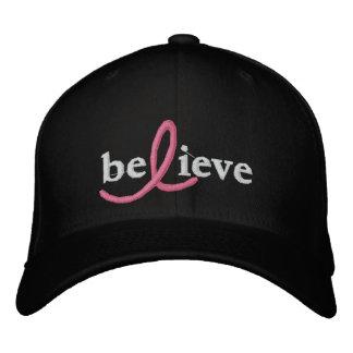 ($24,95) Acredite o chapéu da fita de câncer de ma Boné