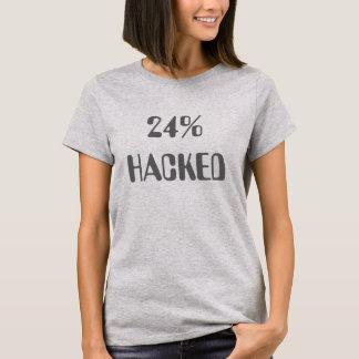 24% cortado camiseta