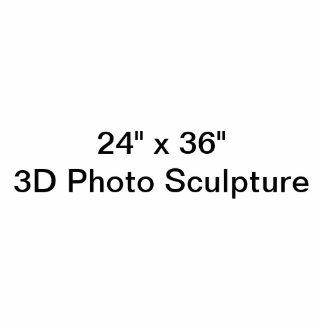 "24"" personalizado x 36"" escultura da foto esculturafotos"