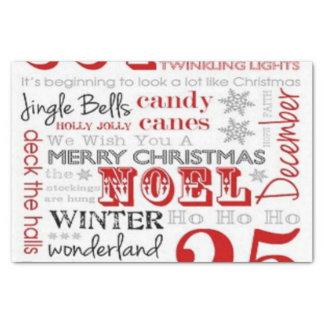 25 dias do lenço de papel do Natal