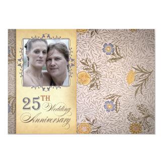 25a foto do aniversário de casamento convite 12.7 x 17.78cm