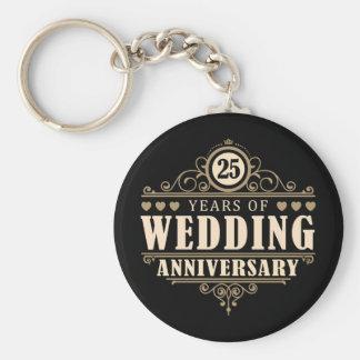 25o Aniversário de casamento Chaveiro