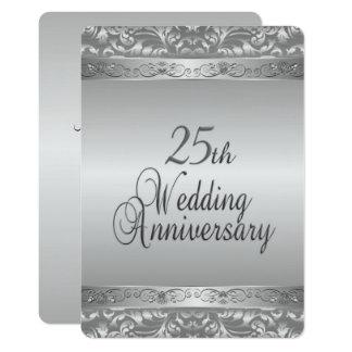 25o Aniversário de casamento Convite 12.7 X 17.78cm