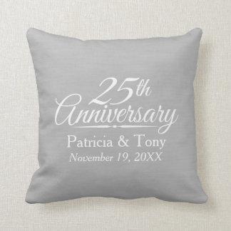 25o Aniversário de casamento personalizado Almofada