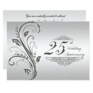 25o Aniversário de casamento RSVP Convite 8.89 X 12.7cm