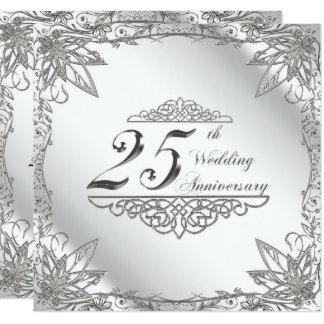 25o Cartão do convite do aniversário de casamento