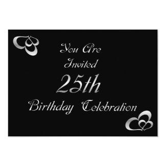 25o Convite de aniversário