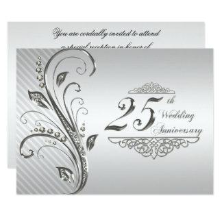 25o Convite do aniversário de casamento