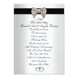 25o Convite do aniversário formal