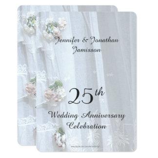 25o Festa de aniversário do casamento, laço do Convite 12.7 X 17.78cm