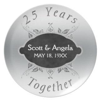 25o Lembrança   do aniversário de casamento 25 Pratos