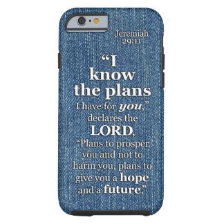 29:11 de Jeremiah eu sei as citações do verso da Capa Tough Para iPhone 6