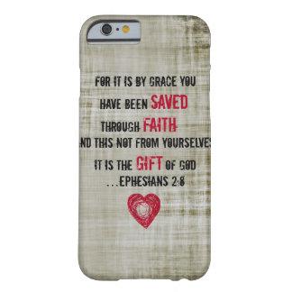 2:8 de Ephesians do verso da bíblia Capa Barely There Para iPhone 6
