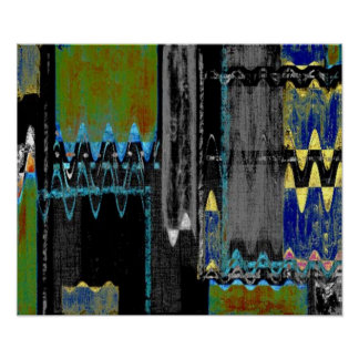 2: : Arte abstracta colorida Poster