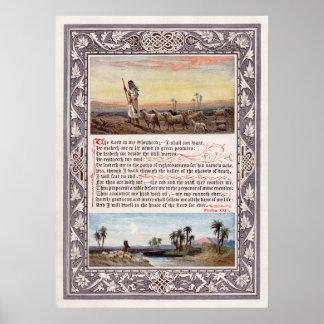 2ó Oração do salmo O senhor é meu pastor grande C Impressão