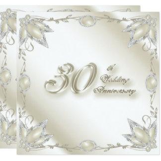 30o Cartão do convite do aniversário de casamento