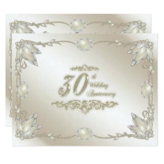 30o Convite do aniversário de casamento