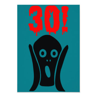 30th birthday invitation card convite 12.7 x 17.78cm