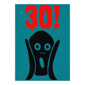 30th birthday invitation card convite 12.7 x 17.78cm
