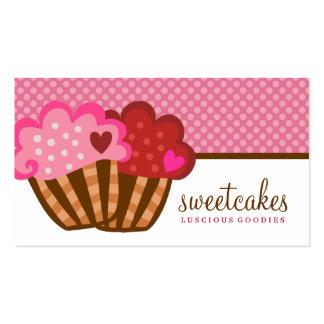Cartão de visita para doces e confeitaria. Cartão de visita bolo.