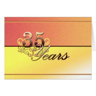 35 anos (aniversário de casamento) cartão comemorativo
