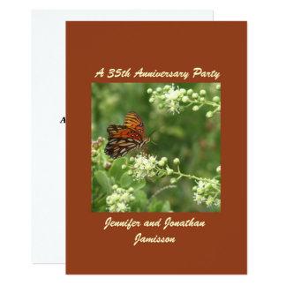 35o Borboleta do convite da festa de aniversário