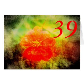 39th Aniversário Cartão