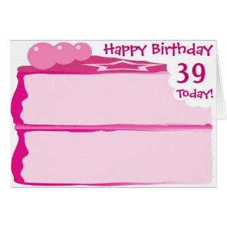 39th aniversário feliz cartão