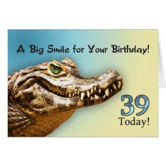 39th Cartão de aniversário