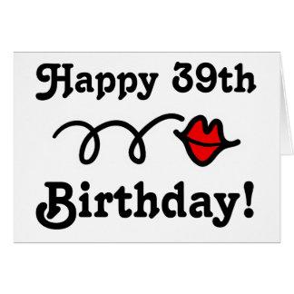 39th cartão de aniversário feliz - número