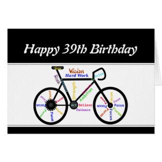 39th Ciclismo inspirador da bicicleta da bicicleta Cartão