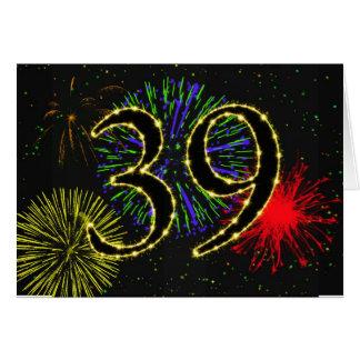 39th Convite de aniversário